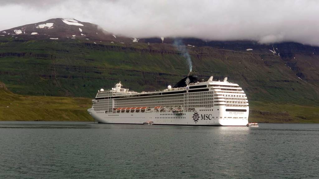 Island, Seyðisfjörður, MSC Orchestra