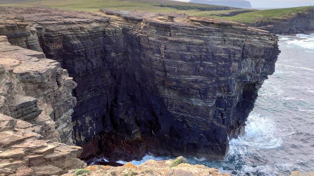 Orkney Inseln, Stromness, Sandsteinklippen von Yesnaby