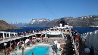 Grönland, Prinz-Christian-Sund, Landschaft, MSC Orchestra