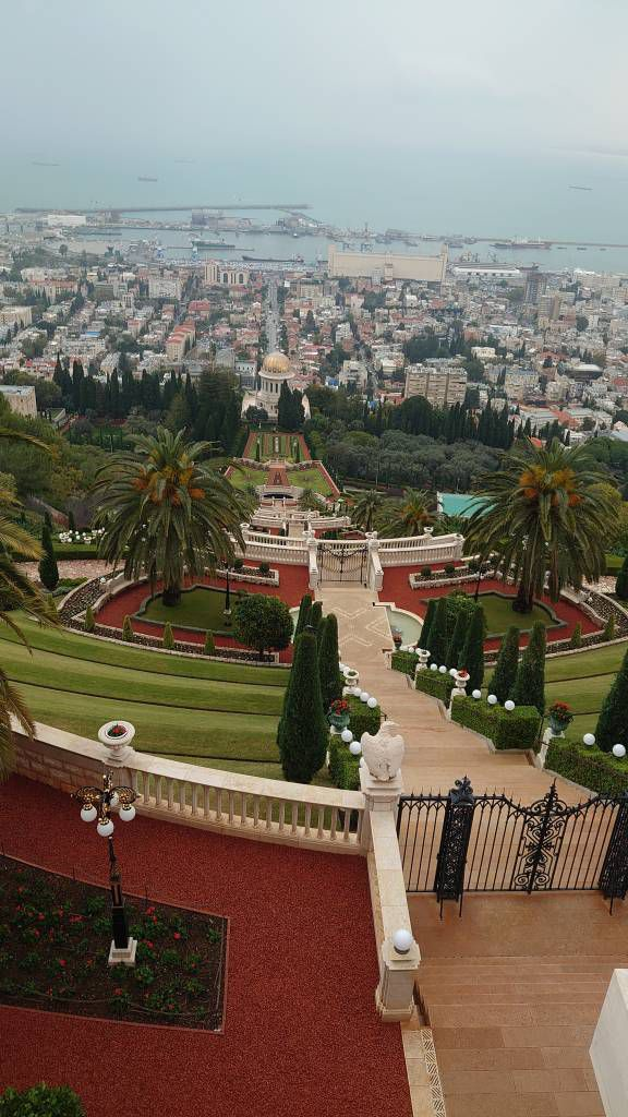 Haifa, hängende Bahai Gärten