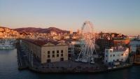 Genua, Hafenausfahrt