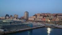 Genua, Stadtansicht am frühen Morgen