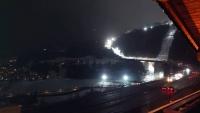 Rückreise, Blick vom Hotel Wipptaler Hof am Brenner