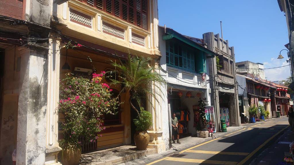 Penang, Georgetown, alte Gebäude
