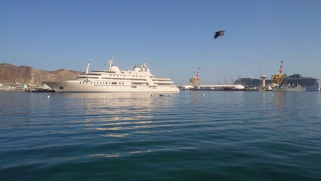 Muskat, eine der Yachten des Sultans