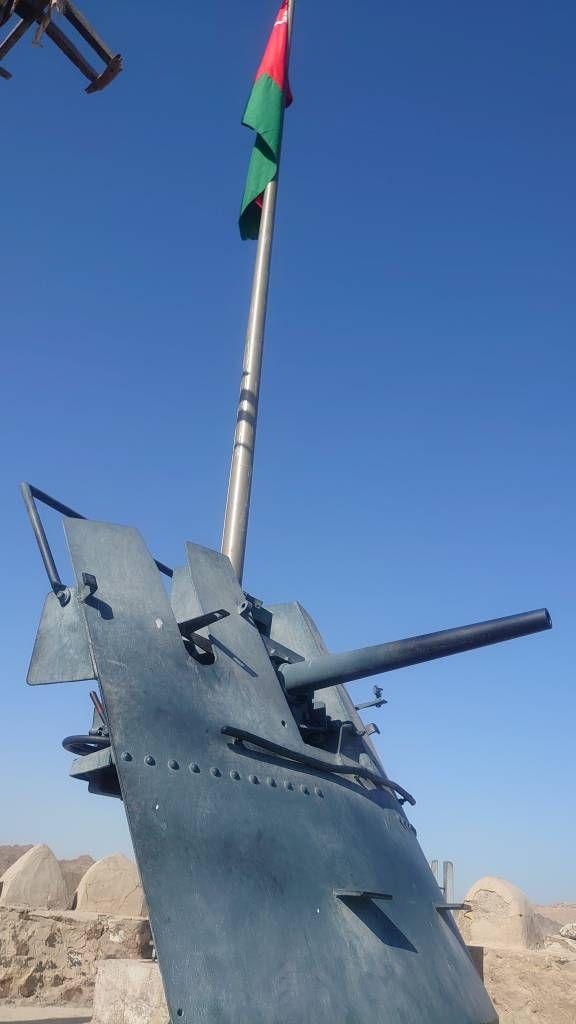 Muskat, altes Geschütz im Mutrah Fort