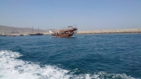 Oman, Khasab, Fahrt mit dem Tenderboot zur MSC Splendida