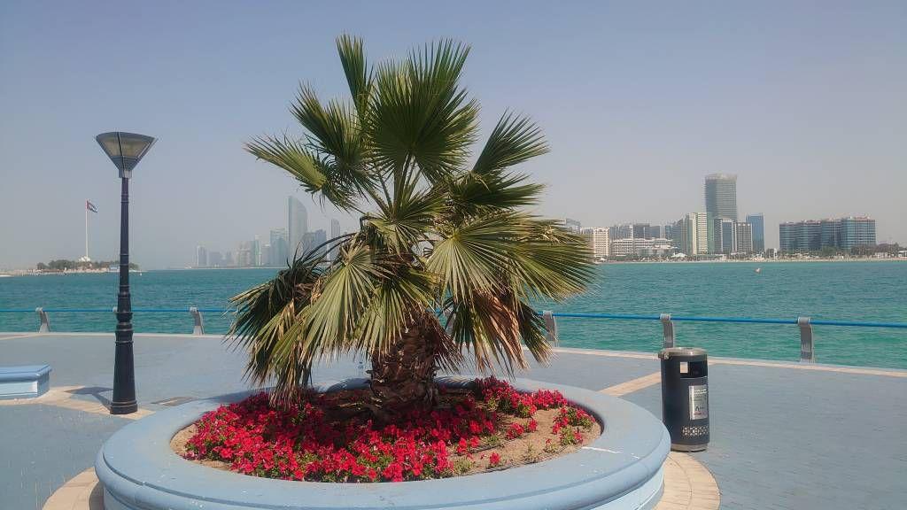 Abu Dhabi, Skyline, Blick in Richtung Corniche Strand