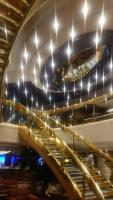 Penang, MSC Splendida, Treppen im Rezeptionsbereich