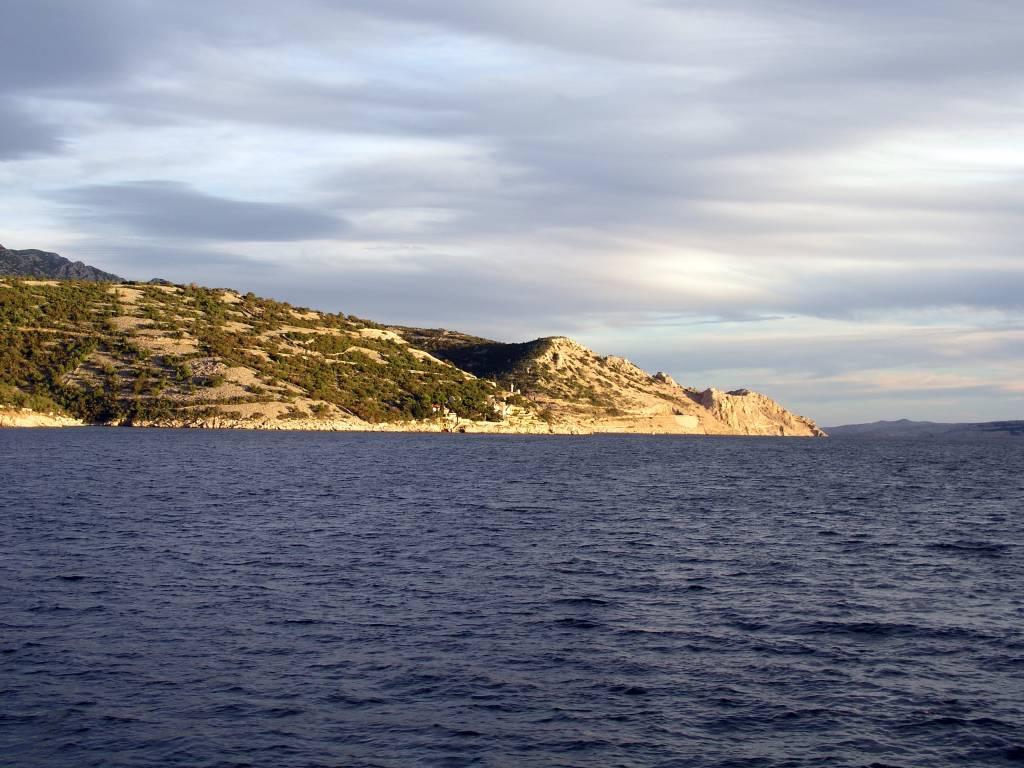 Kroatien, Überfahrt nach Rab