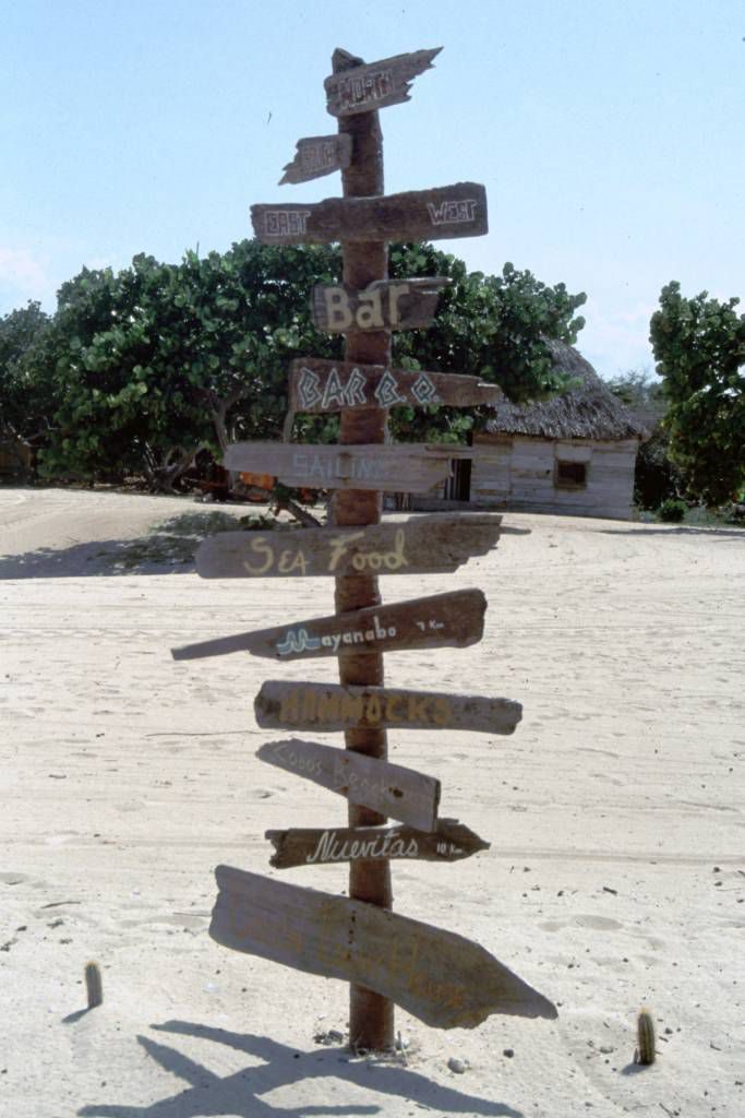 La Boca, Strandwegweiser