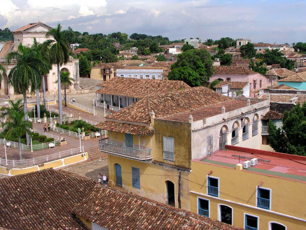 Blick über Trinidad vom Turm des Palacio Cantero