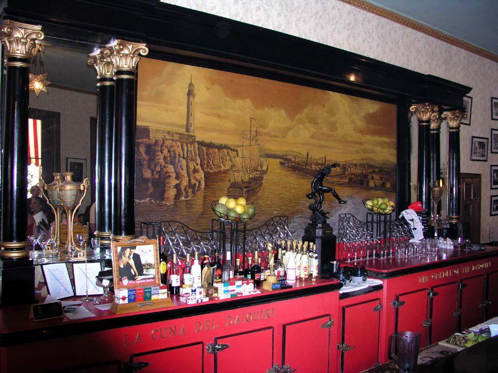 In einer von Hemingways Lieblingsbars, La Floridita