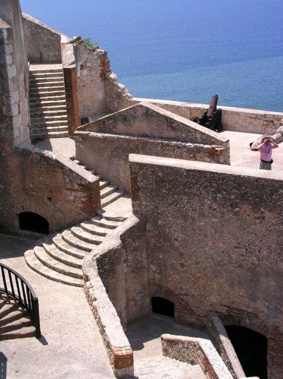 Treppen im Castillo del Morro