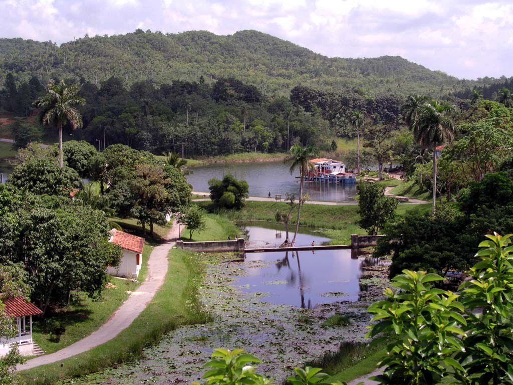 Blick über den Lago de San Juan im Bereich des Öko Projektes Las Terrazas