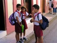 Schulkinder in Bayamo