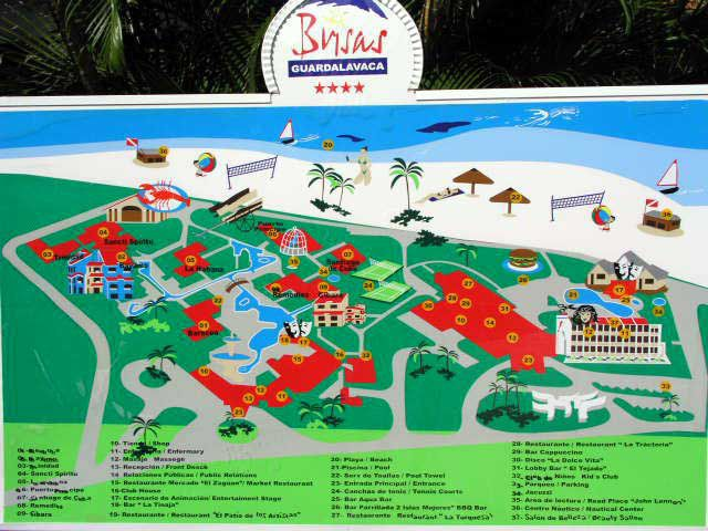 Plan des Hotels Las Brisas Guardalavaca
