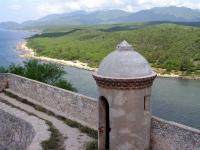 Blick vom Castillo del Morro in Santiago de Cuba