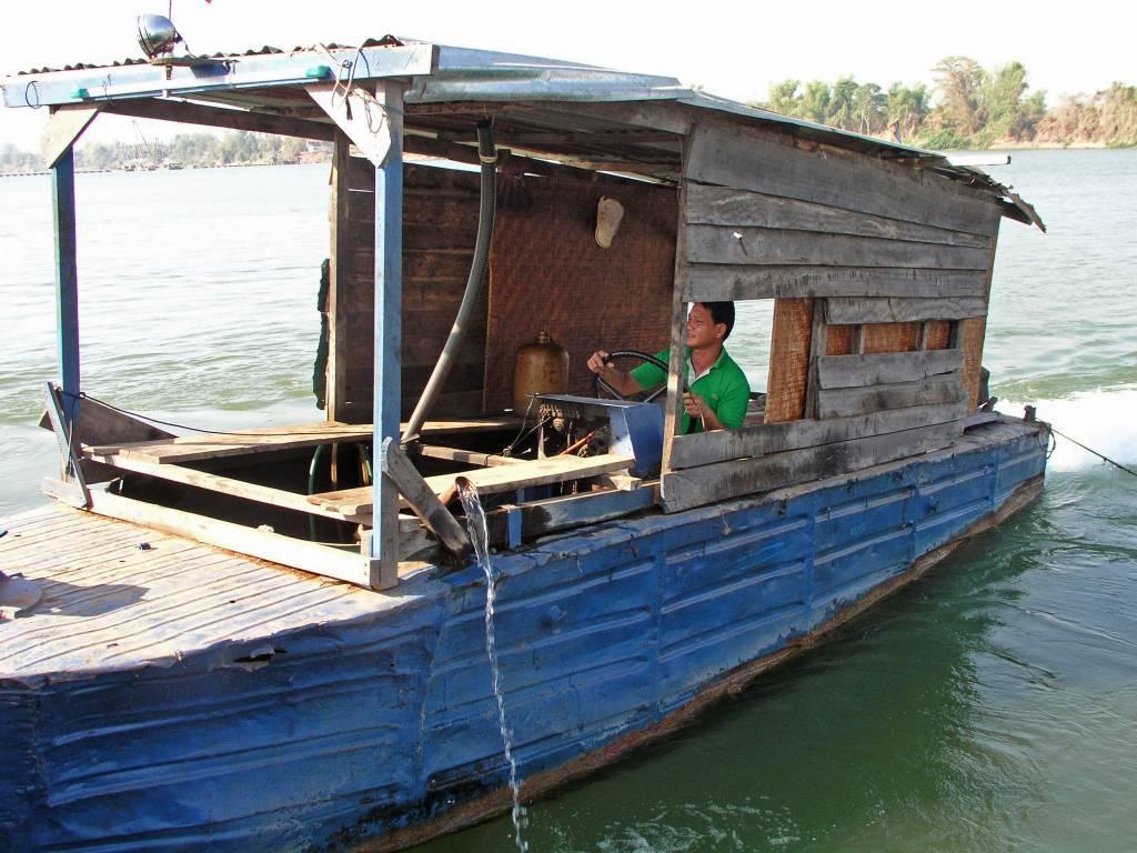 Ban Hat, auf dem Mekong