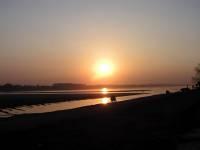 Vientiane, Sonnenuntergang am Mekong