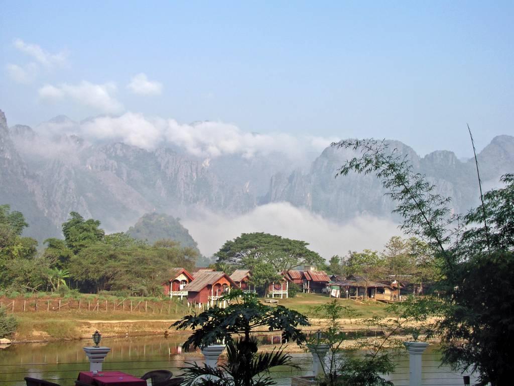 Viengkeo, 40 Kilometer Fahrradtour, Landschaft