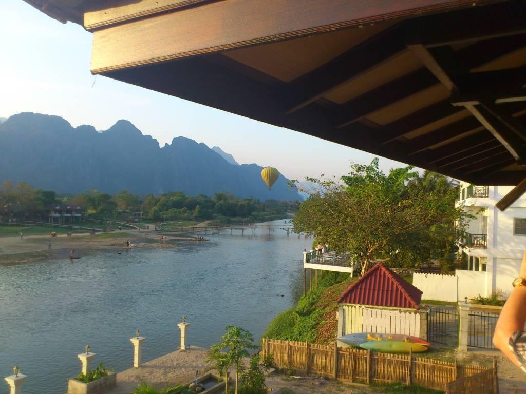 Vangviang, Silver Naga Hotel am Nam Song