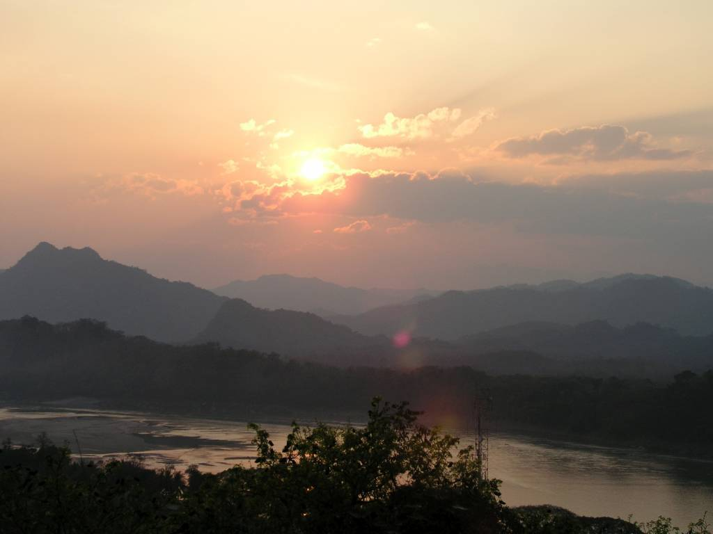 Luang Prabang, Mount Phousi, Sonnenuntergang