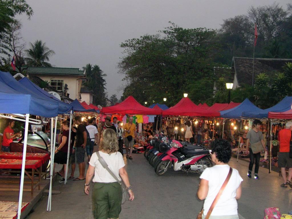 Luang Prabang, Nachtmarkt