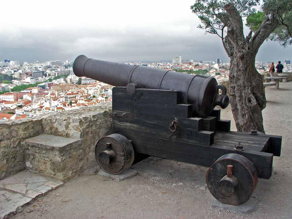 Kanone im Castelo de Sao Jorge