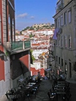 Blick auf das Castelo de Sao Jorge