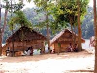Häuser der Orang Asli am Temenggor See