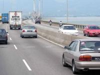 Auf der Penang Brücke