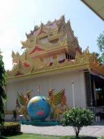 Gebäude im Dhammikarama Burmese Temple, einem birmanischen buddhistischem Tempel