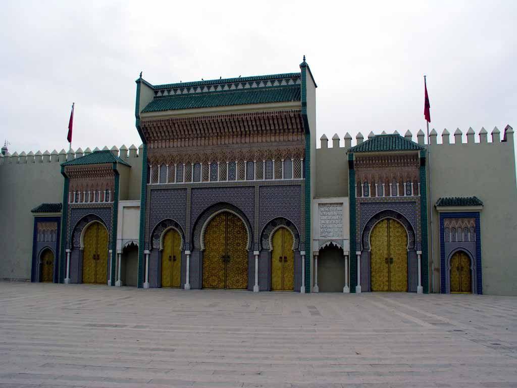 Fes, Eingang zum Königspalast, dem Dar el Makhzen