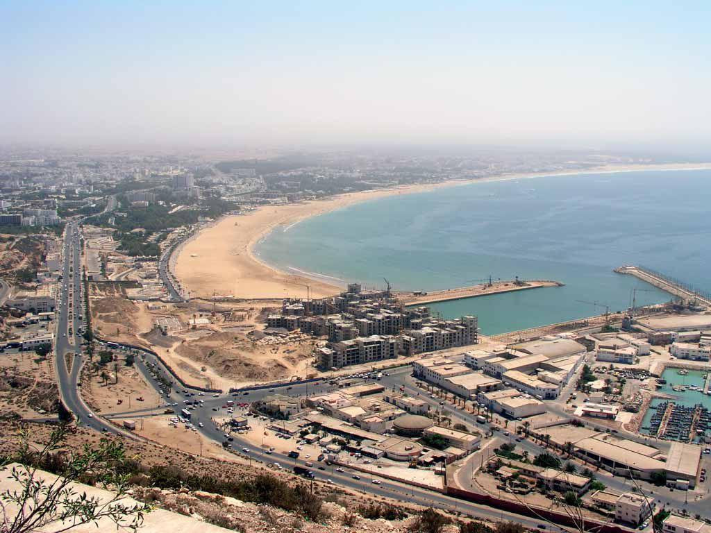 Blick von der Festung Santa Cruz de Aguer auf Agadir
