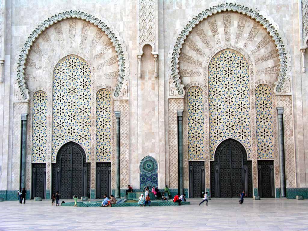 Türen an der Hassan II. Moschee in Casablanca