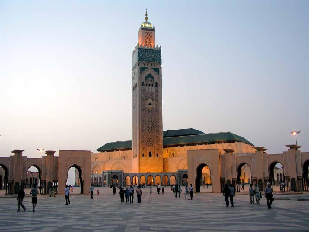 Die Hassan II. Moschee in Casablanca