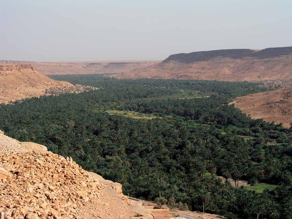 Tal von Ziz in der Nähe von Erfoud
