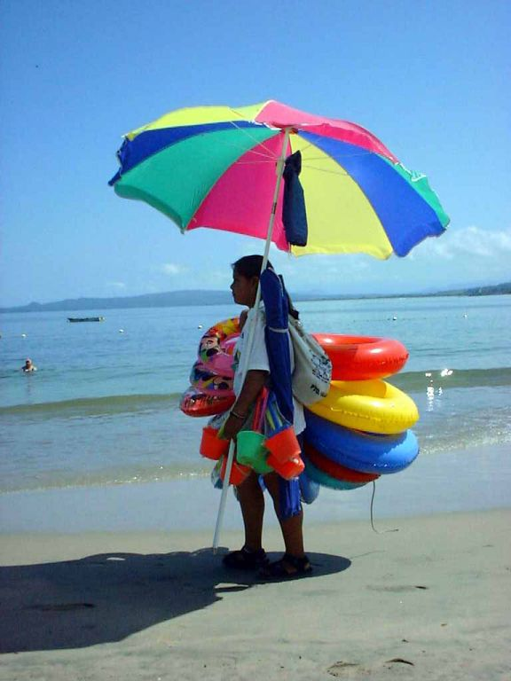Strandverkäuferin