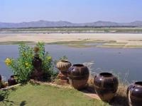 Bagan, Blick über den Ayeyarwady Fluss