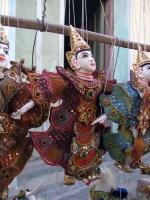 Nayaung U, Marionetten auf dem Markt
