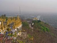 Mandalay, Blick vom Mandalay Berg auf den ehemaligen Königspalast
