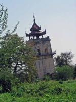 Inwa, der schiefe Turm von Burma, der Nanmyin Turm