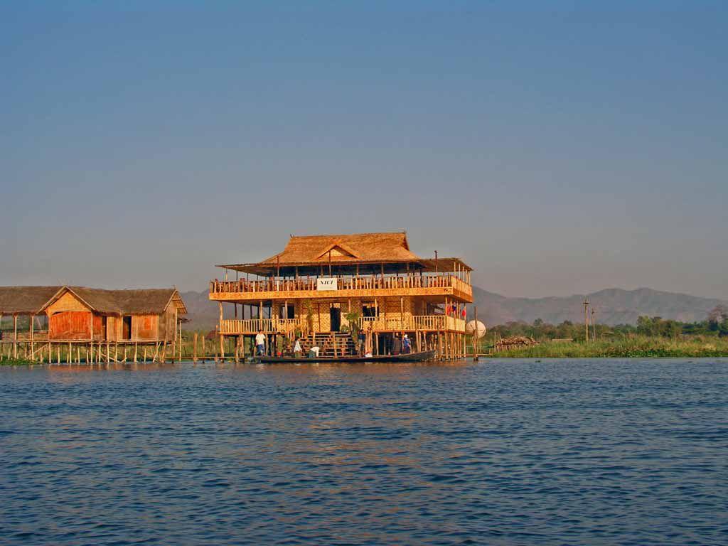 Restaurant auf dem Inle See