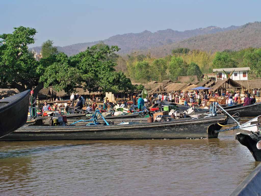 Markt in Taung To, einem Dorf am Inle See