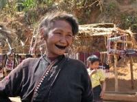 Bergland bei Kyaingtong, Frau vom Lahu Stamm