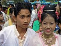 Monywa, ein Brautpaar