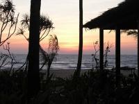 Ngwe Saung, Sonnenuntergang im Palm Beach Resort Hotel