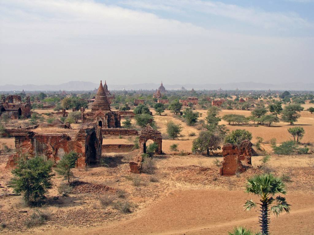 Nyaung U, Bagan, Aussicht vom Tayokpe Tempel