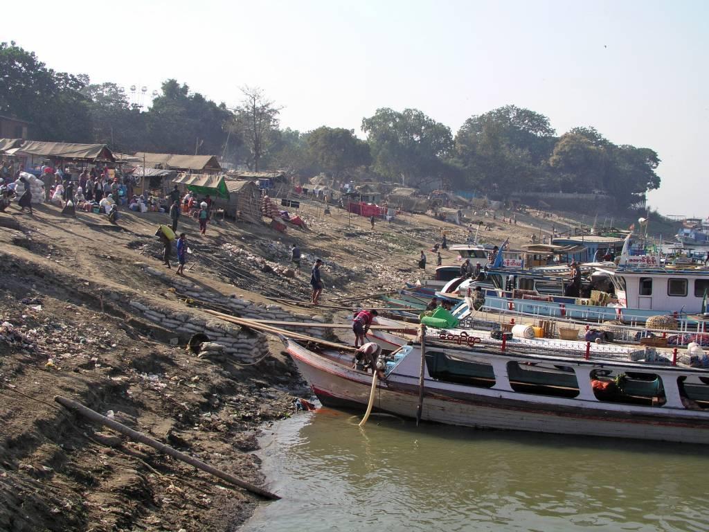 Mandalay, auf dem Ayeyarwady Fluss
